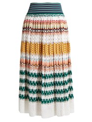 Missoni Zigzag Knit Midi Skirt Multi