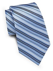 English Laundry Two Tone Striped Silk Tie Light Blue