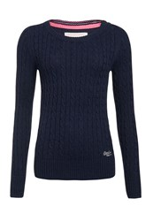 Superdry Croyde Cable Crew Jumper Navy