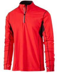 Ideology Id Men's Performance Quarter Zip Top Only At Macy's Red