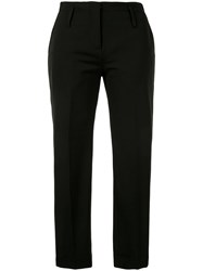 Isabel Benenato Slim Fit Cropped Trousers Black
