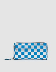 Comme Des Garcons Optical Leather Line Sa110gb Wallet In Blue