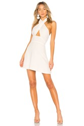 By The Way Ember Halter Fit And Flare Dress White