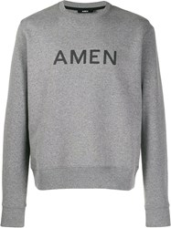 Amen Printed Logo Sweatshirt Grey