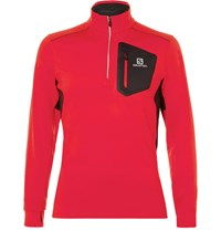 Salomon Trail Runner Advancedskin Half Zip Mid Layer Top Red