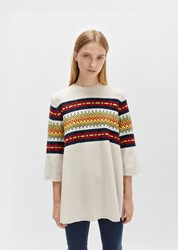 6397 Merino Fairisle Sweater Oatmeal