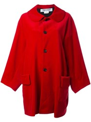 Comme Des Garcons Buttoned Mid Coat Red