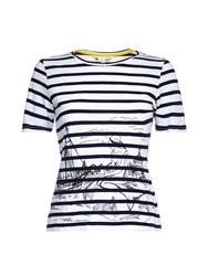 Yumi Scandi Sketch Stripe T Shirt Cream