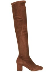 Dolce And Gabbana Knee Length Boots Brown
