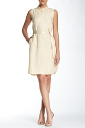 Lafayette 148 New York Harleen Linen Dress Yellow