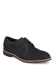 Cole Haan Air Franklin Suede Wingtip Oxfords Black