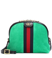 Gucci Ophidia Suede Crossbody Bag Green