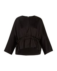 Ted Baker Kimilla Cropped Ruched Top Black