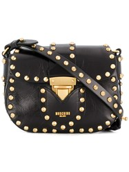Moschino Studded Mini Satchel Bag Black