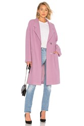 Kendall Kylie Wool Overcoat Purple