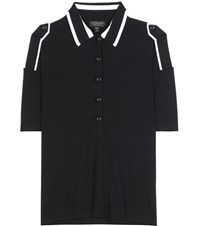 Burberry Knitted Wool Polo Shirt Black