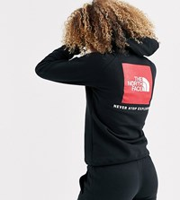 The North Face Red Box Hoodie In Black Red