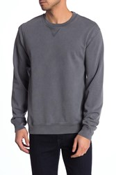 7 For All Mankind Vintage Crew Neck Pullover Sweatshirt Charcoal