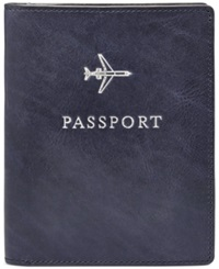 Fossil Leather Passport Case Olive