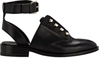 Balenciaga Women's Pierced Ankle Strap Oxfords Black