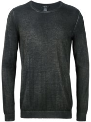 Avant Toi Ribbed Round Neck Jumper Green