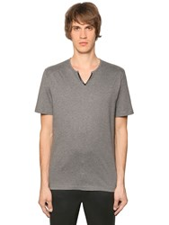 The Kooples Faux Leather Trim Cotton Jersey