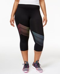 Ideology Plus Size Striped Leggings Only At Macy's Noir
