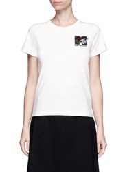 Marc Jacobs X Mtv Sequin Logo Embroidered T Shirt White