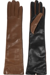Valentino Two Tone Leather Gloves