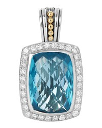 Lagos Prism Blue Topaz And Diamond Enhancer Pendant Women's