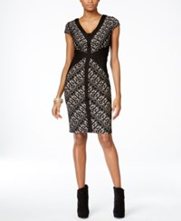 Thalia Sodi Perforated Pleat Trim Dress Only At Macy's