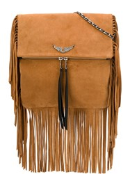 Zadig And Voltaire Rockson Fringes Crossbody Bag Neutrals