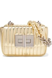 Tom Ford Natalia Mini Metallic Quilted Leather Shoulder Bag Gold