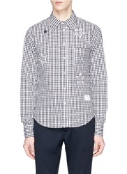 The Editor Star Embroidered Gingham Check Shirt Multi Colour