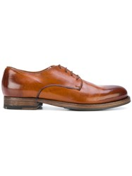 Pantanetti Lace Up Shoes Calf Leather Leather Rubber Brown