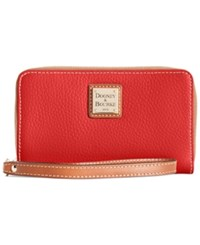 Dooney And Bourke Zip Around Carryall Wristlet Red