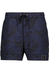 Y 3 Cotton Jacquard Shorts Black