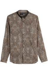 The Kooples Leopard Print Cotton Shirt