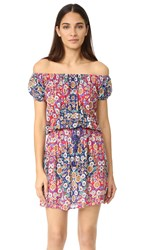 Nanette Lepore Desert Diamond Off The Shoulder Cover Up Dress Multi