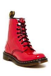 Dr. Martens 1460 Patent Lace Up Boot Red