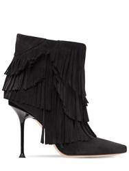 Sergio Rossi 105Mm Sr Milano Suede Ankle Boots Black
