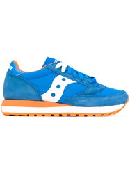 Saucony Lace Up Sneakers Women Cotton Suede Nylon Rubber 41 Blue