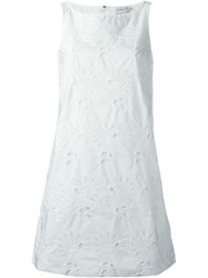Moncler Broderie Anglaise Dress White