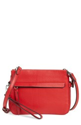 Vince Camuto Small Edsel Leather Crossbody Bag Red Cherry Red