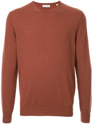 Gieves And Hawkes Classic Crew Neck Pullover Cashmere Yellow Orange