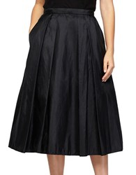 Alex Evenings Short Taffeta A Line Skirt Black