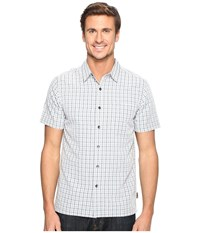 Royal Robbins Mojave Pucker Plaid Short Sleeve Pewter Men's Short Sleeve Button Up