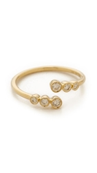 Ef Collection Multi Bezel Diamond Twist Ring Gold Clear