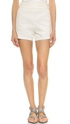 Tess Giberson High Waisted Denim Shorts White