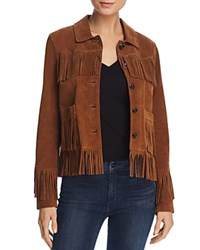 Aqua Fringed Suede Jacket 100 Exclusive Brandy